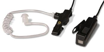 vue du MOTOROLA Micro-oreillette noire + tube accoustique CP