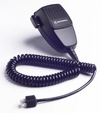 vue du MOTOROLA Microphone manuel de poste mobile pour adaptateur de véhicule