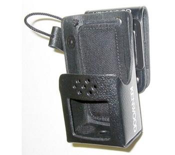 vue du KENWOOD Housse en cuir rigide avec clip ceinture métal TK-2170