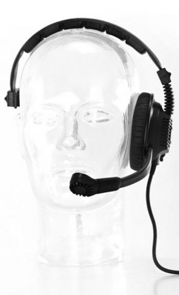 vue du MOTOROLA Micro-casque professionnel VOK