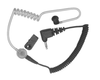 vue du MOTOROLA Oreillette avec tube translucide pour séries GP et DP
