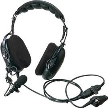 vue du KENWOOD Micro casque milieu bruyant avec PTT TW-2140_2180